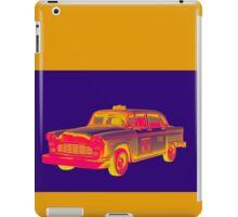 Checkered Taxi Cab Pop Art iPad Case/Skin