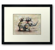 Upside Down Elephants Framed Print