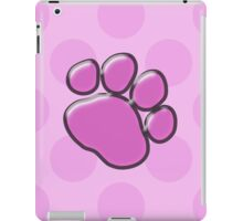 Plastic Dog Paw, Paw-print - Pink Black  iPad Case/Skin