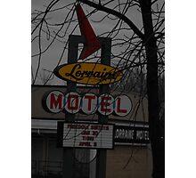 Lorriane Motel  Photographic Print