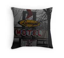 Lorriane Motel  Throw Pillow
