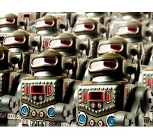 Robot Army Photographic Print
