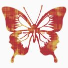 Red & Gold Butterfly by bradyarnold