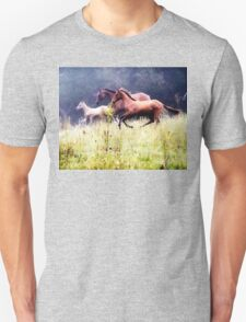 Galloping Horses Photography Unisex T-Shirt