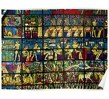 Stained Glass Hieroglyphs Poster