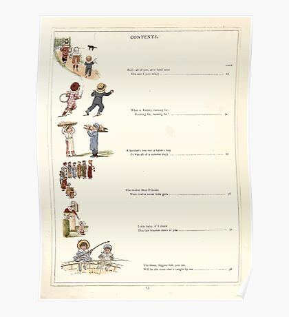 Under the Window Pictures and Rhymes for Children Edmund Evans and Kate Greenaway 1878 0017 Contents Poster