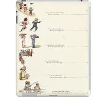 Under the Window Pictures and Rhymes for Children Edmund Evans and Kate Greenaway 1878 0017 Contents iPad Case/Skin