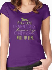 Ride Horses Often Women's Fitted Scoop T-Shirt