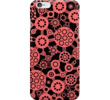 Ecosystem - Tropical Pink on Black iPhone Case/Skin