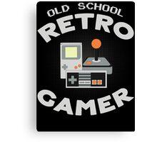 Old School Retro Gamer T Shirt Canvas Print