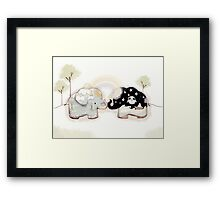 Good Karma Elephants Framed Print