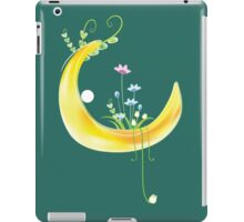 Cartoon moon and flowers iPad Case/Skin