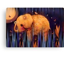 daisy's night garden Canvas Print