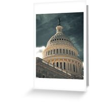 Capital Storm Greeting Card