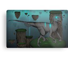 Acid Velociraptor Metal Print