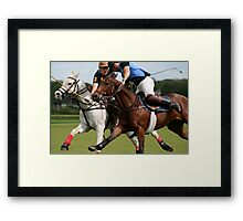 Who will win it! Framed Print