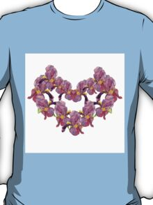floral pattern with iris watercolor. T-Shirt