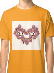 floral pattern with iris watercolor. Classic T-Shirt
