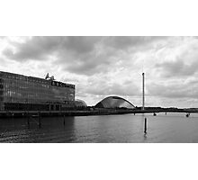 Glasgow Science Centre Black and White  Photographic Print