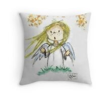 Angel of Fall Throw Pillow