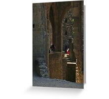 Within Walls Greeting Card