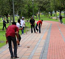 Cricket In Quito, Ecuador by Al Bourassa