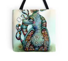 Misty the Friendly Rainbow Dragon Tote Bag