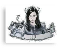 Grumpy Cat & Aubrey Plaza Canvas Print