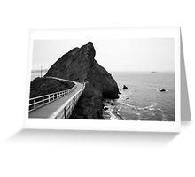 Point Bonita Cove Greeting Card