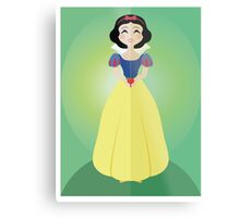 Symmetrical Princesses: Snow White Metal Print
