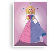 Symmetrical Princesses: Sleeping Beauty Canvas Print