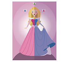 Symmetrical Princesses: Sleeping Beauty Photographic Print