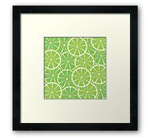 Lime Slices Background 2 Framed Print