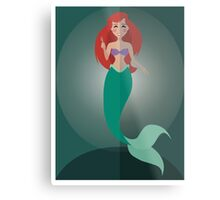 Symmetrical Princesses: Ariel Metal Print
