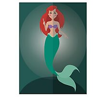 Symmetrical Princesses: Ariel Photographic Print