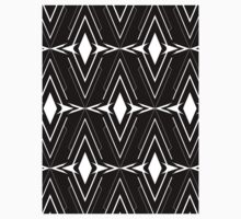 Scandinavian Aztec Pattern Black and White Kids Tee