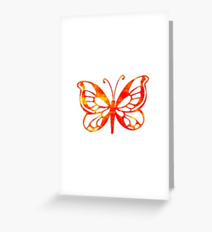 Red & Gold Butterfly Greeting Card