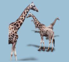Giraffe on White One Piece - Short Sleeve