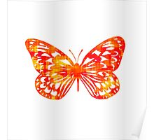 Red & Gold Butterfly Poster