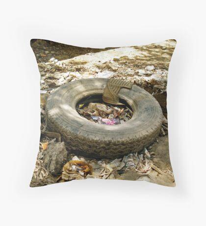 Spare Tire Throw Pillow