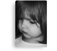 Little Girl in B&W Canvas Print