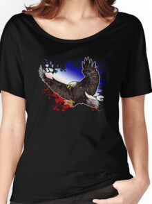 Bald Eagle - Red, White & Blue (2) Women's Relaxed Fit T-Shirt