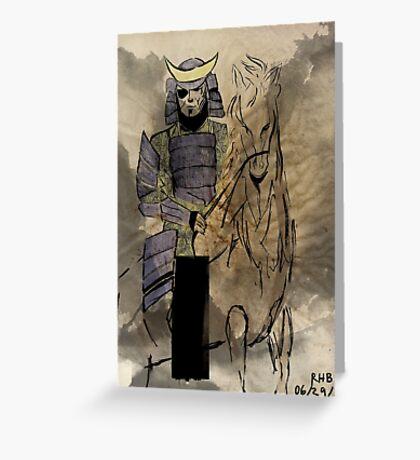 Date Masamune Greeting Card