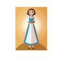 Symmetrical Princesses: Belle Art Print