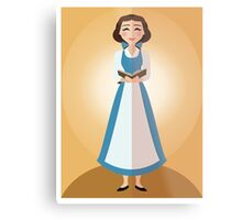 Symmetrical Princesses: Belle Metal Print
