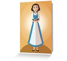 Symmetrical Princesses: Belle Greeting Card