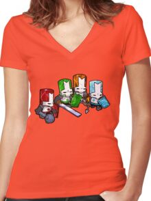 Castle Crashers - The Elements Women's Fitted V-Neck T-Shirt
