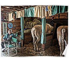 Prize Winning Draft Horses - Fryeburg Fair Poster