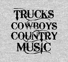 TRUCKS COWBOYS COUNTRY MUSIC Womens Fitted T-Shirt