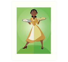 Symmetrical Princesses: Tiana Art Print
